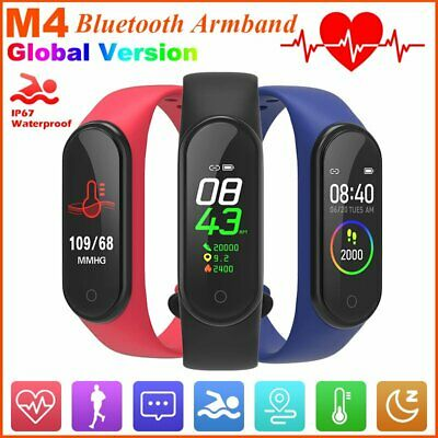 M4 Bluetooth Smartwatch Armbanduhr Blutdruck Fitness Tracker IP67 Wasserdicht