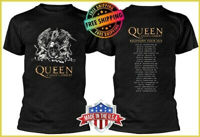 FREESHIP 2019 Rhapsody Tour Crest T-Shirt Queen Rock Band T Shirt S-6XL Tee