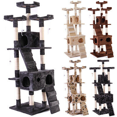 "67"" Cat Tree Tower Condo Indoor Furniture Scratching Post Pet Kitty Post Bed"