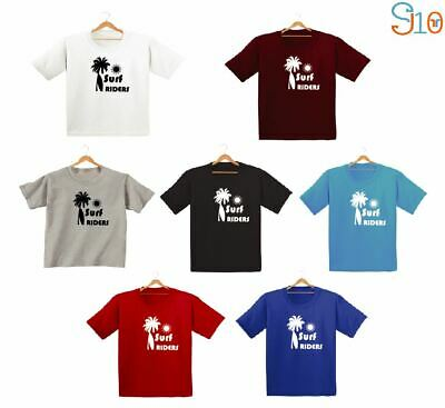 Surf Rider Printed Kids Boys Girls T Shirts Fashion Funny Cute Surfing Tee Dope