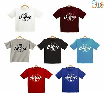 California Printed Kids Boys Girls T Shirts Fashion Cute Dope Swag Hipster Tee