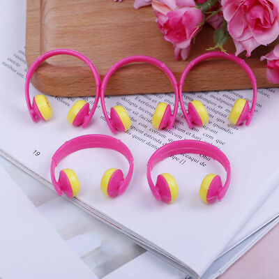 5PCS For Doll acessories plastic headphones multicolor mixed Pip_CH