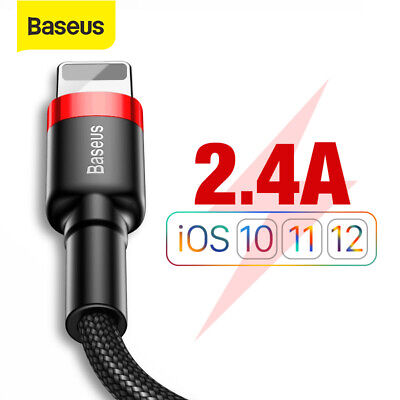 Baseus USB Lightning Cable Fast Charging for iPhone XS Max XR X 8 7 6 5 SE iPad