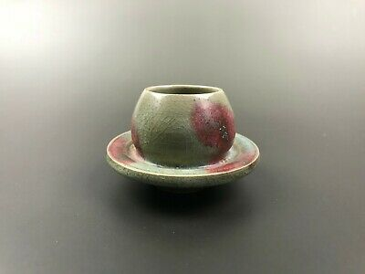 Rare Chinese porcelain Jun kiln red&blue glaze Tea Cup 960-1279 Song dynasty