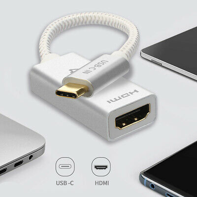 Gold-Plated HDMI Port USB C to HDMI Adapter for Samsung Note 9/ S9/ Note 8/ S8