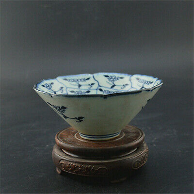 Chinese Qing Dynasty porcelain Hand painted Flower branch cup bowl