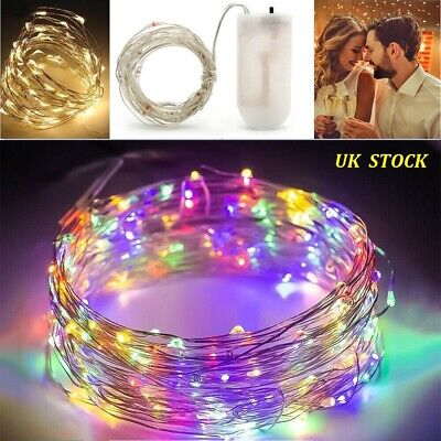 10x 40LED Battery Fairy String Lights Copper Bottle Micro Rice Wire Party Xmas