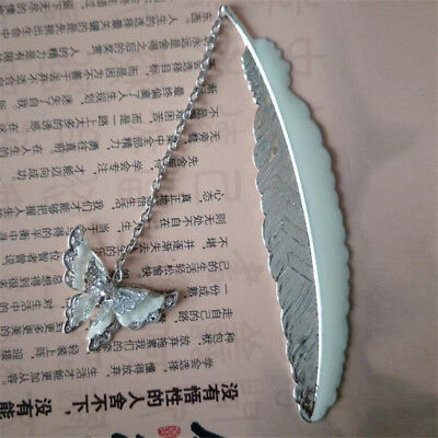 Luminous Night Butterfly Metal Bookmark Label Read Maker Feather Book Mark BM