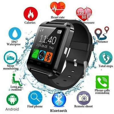 2019 Bluetooth Smart Watch For Android IOS Phone Samsung iPhone Camera SIM Slot