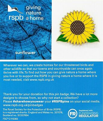 RSPB Pin Badge | sunflower GNAH BLUE (01552)
