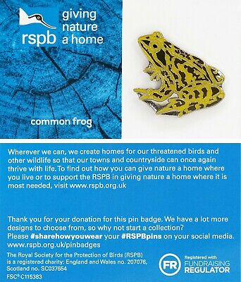 RSPB Pin Badge | common frog GNAH BLUE (01486)