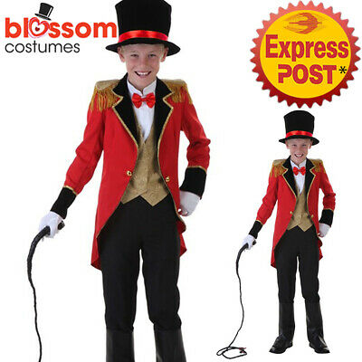 K917 Deluxe Ringmaster Magician Costume Circus Boys Child Lion Tamer Book Week