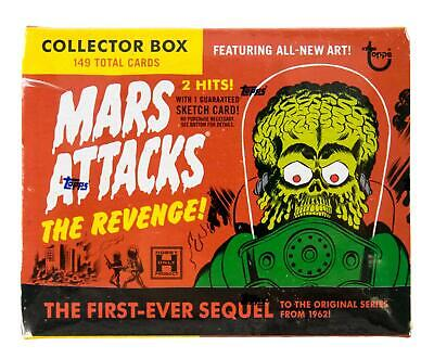 2017 Topps Mars Attack The Revenge Set Box With Sketch !!!