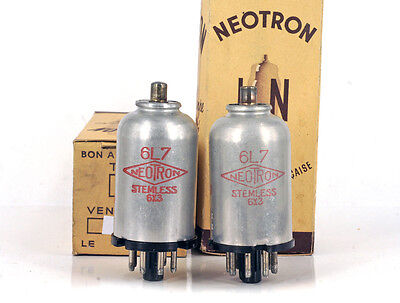 MATCHED PAIR 6L7MG/6L7 NEOTRON NOS FRANCE Tube Röhre Lampe TSF Valvola Valve 진공관