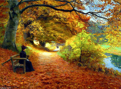 LMOP881 Autumn scenery landscape painted hand home art oil painting on canvas