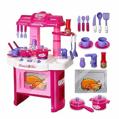 Portable Beauty Electronic Children Kids Kitchen Cooking Toy Cooker PlaySet Gift