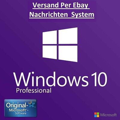 MS Windows✓10✓Professional✓WIN 10 PRO✓Vollversion 32/64Bit LIZENZ-KEY✓per✓eBay✓