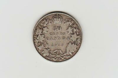 1913 Canada silver fifty cents