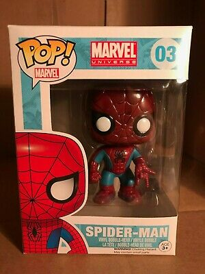 Funko Pop Marvel Universe Blue and Red Spider Man # 03