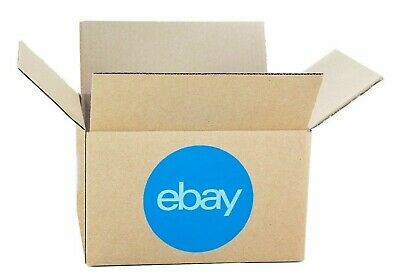 """New Official eBay-branded Shipping Boxes with Blue 2-Color Logo 6""""x 4""""x 4"""""""