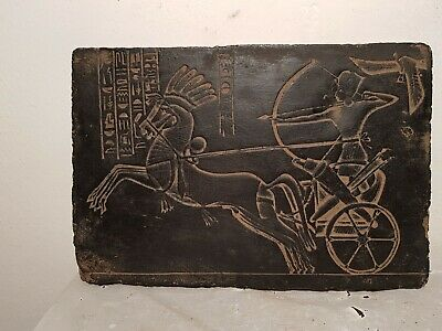Rare Antique Ancient Egyptian Stela King Ramses War Chariot Arrows 1279–1213BC