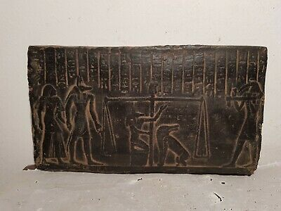 Rare Antique Ancient Egyptian stela Judgement Day God Anubis Toth Scl1830-1740BC