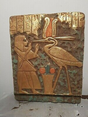 Rare Antique Ancient Egyptian Stela King Amenhotep & God Toth Sceince1427–1401BC