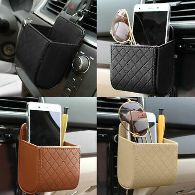 Car PU Leather Tidy Storage Box Coin Bag Organizer Pocket Hanging Holder Pouch