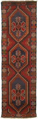 """Hand-knotted Carpet 2'4"""" x 7'11"""" Traditional Vintage Wool Rug"""
