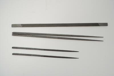5 Piece New Vallorbe Grobet Swiss Made Watchmakers File Set. Round Flat Triangle