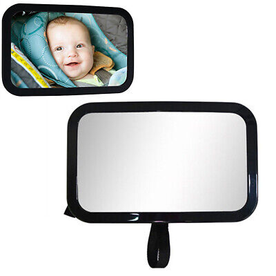 Car Easy View Rear Back Seat Baby Child Safety Mirror 360° Square Wide Vision