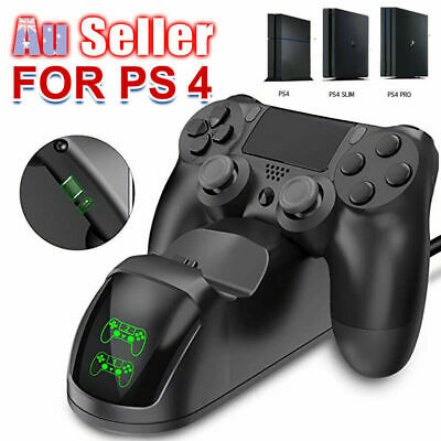 NEW* PS4 LED Docking Charger Station Controller 4 Shock Charging Dual
