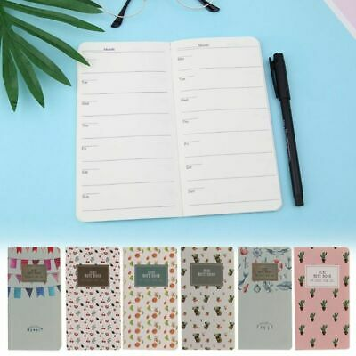 Monthly Planner Mini Diary Notebook Note Pad Travel Back to School Office