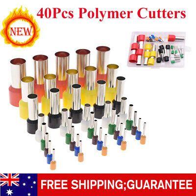 40Pcs Polymer Cutter Clay Cutters Stainless Steel Round Cutters for Pottery