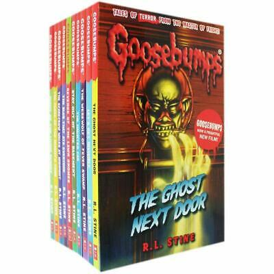 R.L.Stine Goosebumps Series 10 Books Collection Pack Set Classic Covers New