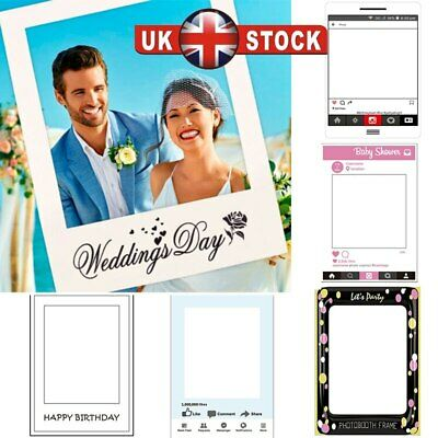 48 x 68cm Photo Booth Prop Frame Hen Party Baby Shower Birthday Christmas Selfie