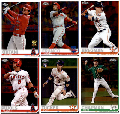 2019 Topps Chrome Baseball - Base Set Cards - Choose From Card #'s 1-204