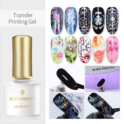 BORN PRETTY 6ml 3D Transfer Printing Gel Nail Foil Design Soak Off UV Gel Nails