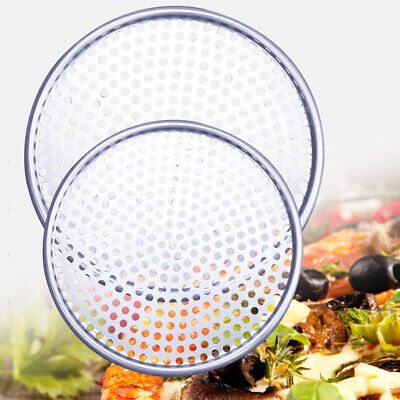 Plate Pizza Pan Baking Nonstick Tray Kitchen Tools Bakeware Hole Mold Round Home