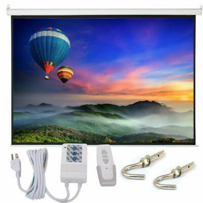 """100"""" 4:3 Foldable Electric Viewing Area Motorized Projector Screen With Remote"""