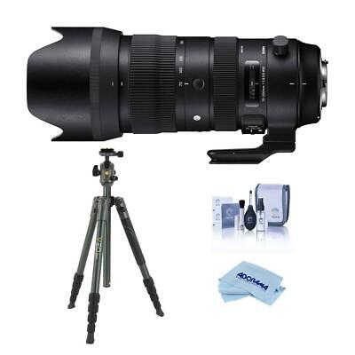 Sigma 70-200mm f/2.8 DG OS HSM Telephoto Zoom Lens for Canon EOS With Tripod