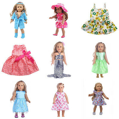 """Fits 18"""" inch Handmade fashion Girls Doll Clothes Outfit dress"""
