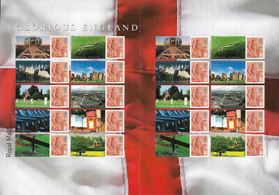 GB 2007 Glorious England u/m stamp Smilers sheet correct spelling Wight - LS38