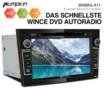 Pumpkin 2 DIN Android 9.0 Autoradio mit GPS Navi DAB DVD CD Touchscreen USB WiFi