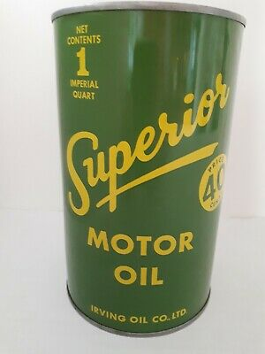 Vintage Oil Can Superior Irving oil co. Ltd one imperial quart