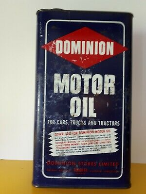 Vintage Oil Can Dominion motor oil