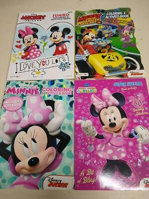 Lot of 4 Mickey Minnie Mouse and Friends Disney Coloring Activity Books Stickers