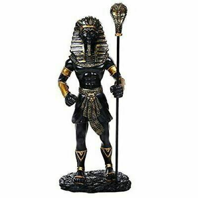 "Resin Egyptian Collectible King Tut With the King Cobra Sceptre Figurine 12""H"