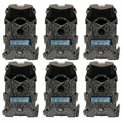 Wildgame Innovations Mirage 16 Lightsout 16MP 720p Game Camera, Camo (6 Pack)