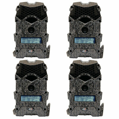 Wildgame Innovations Mirage 16 Lightsout 16MP 720p Game Camera, Camo (4 Pack)
